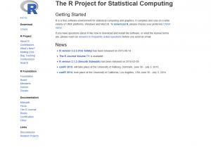R- The R Project for Statistical Computing